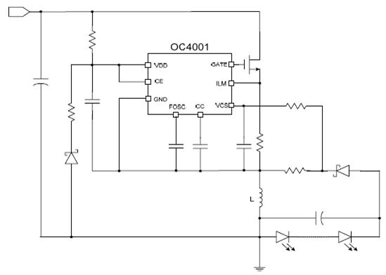 升降压led恒流驱动器典型应用电路图